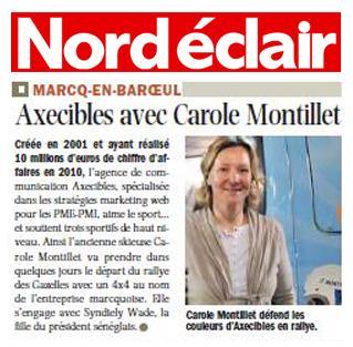 Nord Eclair - Axecibles avec Carole Montillet (12 mars 2011)