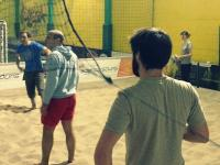Axecibles rencontre Verlingue lors d'un match de beach volley