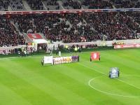 Les collaborateurs d' Axecibles fêtent Noël au grand stade de Lille, un cadeau de noël d'avance